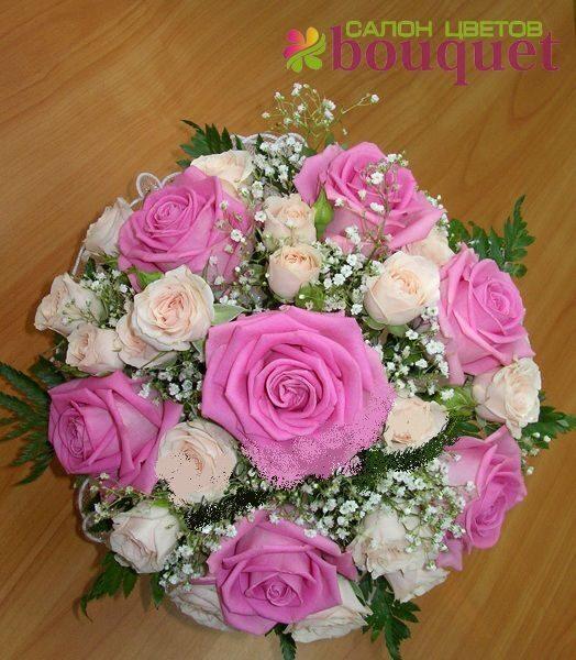 Свадебный букет из живых цветов своими руками пошагово